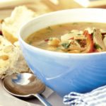 Perky turkey soup
