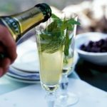 Sparkling mint & lemon juleps