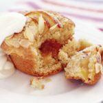 Peach & almond muffins