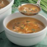 Carrot, lentil & orange soup