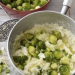 Mashed parsnip & sprout colcannon