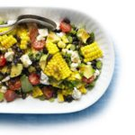 Spicy corn, black bean & feta salad