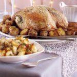 Herb-buttered turkey, roasties & cranberry sauce gravy