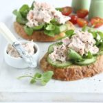 Smoked trout & cucumber open sandwiches