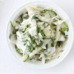 Cucumber & fennel salad
