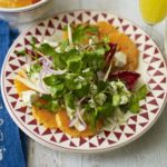 Clementine, feta & winter leaf salad