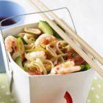 Prawn sweet chilli noodle salad