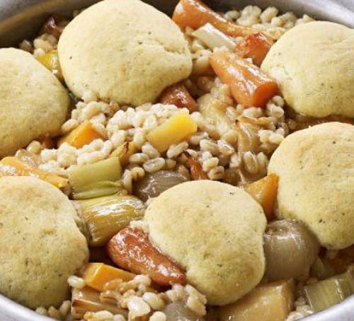 Vegetable stew with herby dumplings Recipe