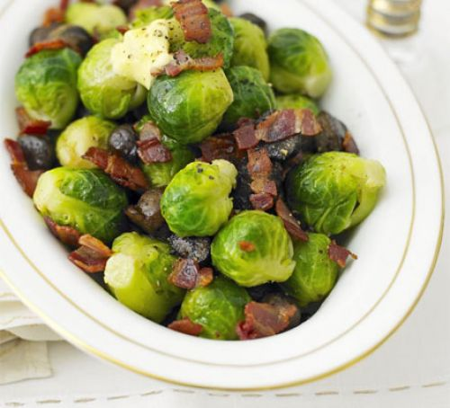 Brussels sprouts with bacon & chestnuts Recipe
