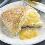 Crunchy crusted citrus scones