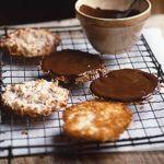 Coconut & chocolate macaroons