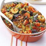 Roast summer vegetables & chickpeas