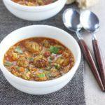 Fragrant pork & rice one-pot