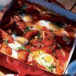 Tomato baked eggs