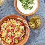 Crunchy corn & pepper salsa