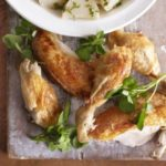 Herby dressed turnips & roast chicken