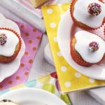 Dotty banana fairy cakes