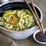 Singapore noodles with shrimps & Chinese cabbage