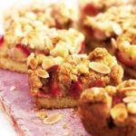 Plum & almond crumble slice