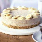 Frozen banana & peanut butter cheesecake