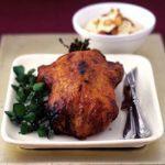 Honey-roasted duck with creamed cauliflower