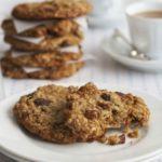 Maple, pecan & raisin oaty cookies