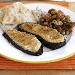 Aubergine & hummus grills