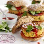 Chickpea & coriander burgers