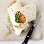 Carrot & hummus roll-ups