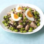 Salmon & soya bean salad