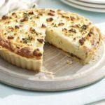 Double cheese & onion souffle tart