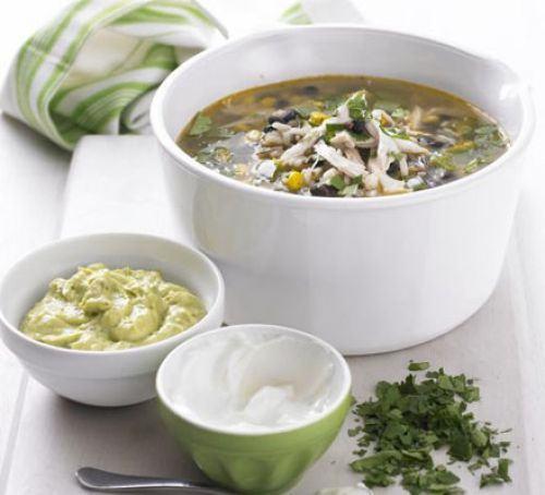 Mexican chicken & wild rice soup Recipe