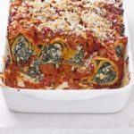 Tofu & spinach cannelloni
