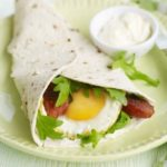 Chorizo & fried egg wraps
