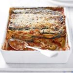 Griddled courgette & seafood lasagne
