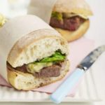 Griddled steak sandwich with olive & caper butter