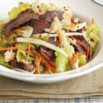 Beef strips with crunchy Thai salad
