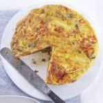 Pumpkin, halloumi & chilli omelette