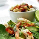 Chickpea & roasted pepper salad