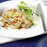 Asian pork with rice noodle salad