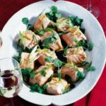 Steamed salmon in the microwave