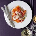 Salmon, fennel & lime plates
