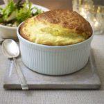Cheeseboard souffle & seasonal salad