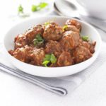 Meatballs with spicy chipotle tomato sauce
