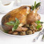 Saffron roast turkey