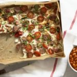 Full English frittata with smoky beans