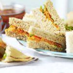 Carrot & raisin sandwiches