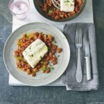 Simple grilled fish with Moroccan spiced tomatoes