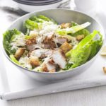 Caesar salad with crispy chicken