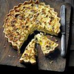 Leek, ricotta & gruyere tart